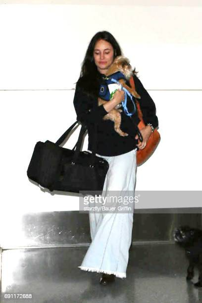 Madeleine Stowe is seen at LAX on June 01 2017 in Los Angeles California
