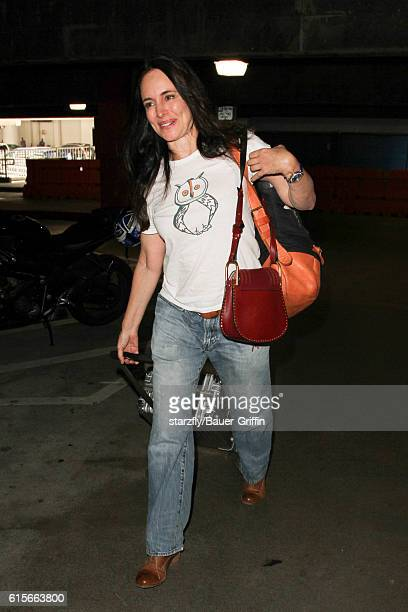 Madeleine Stowe is seen at LAX on October 19 2016 in Los Angeles California