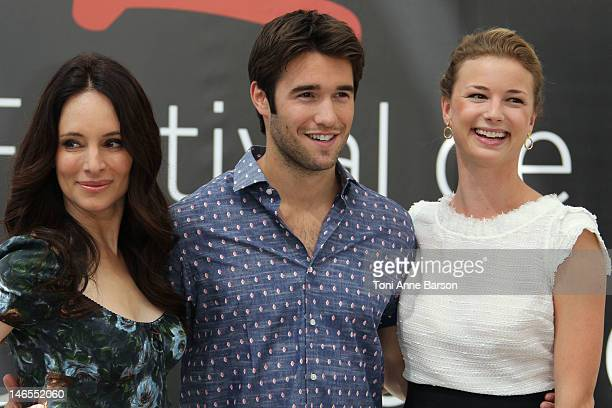 Madeleine Stowe, Josgua Bowman and Emily VanCamp attend 'Revenge' photocall at the Grimaldi Forum during the 52nd Monte Carlo TV Festival on June 12,...