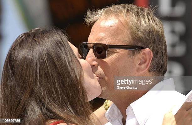 Madeleine Stowe Kevin Costner during Kevin Costner Honored with a Star on the Hollywood Walk of Fame for His Achievements in Film at Hollywood Blvd...