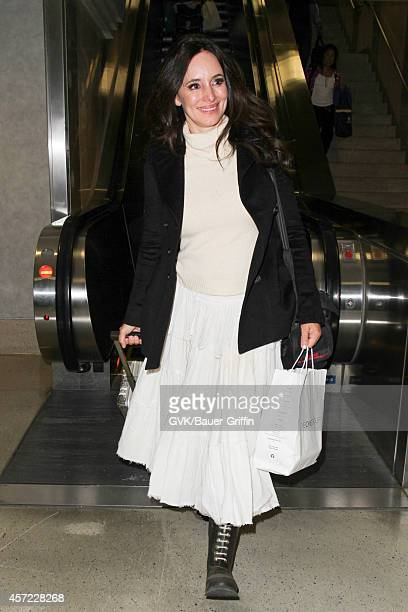 Madeleine Stowe seen at LAX on October 14 2014 in Los Angeles California