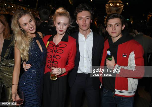 Madeleine Thea Poppy Fitzpatrick Harrison Osterfield and Tom Holland attend the InStyle EE Rising Star Party at Granary Square on February 6 2018 in...
