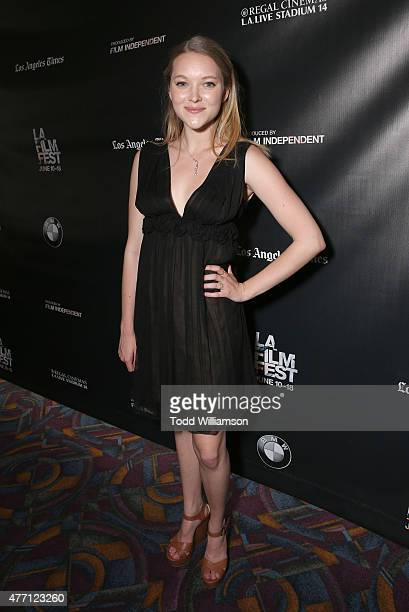 Madeleine Waters attends the 2015 Los Angeles Film Festival Premiere Of The Diary Of A Teenage Girl Red Carpet at Regal Cinemas LA Live on June 13...