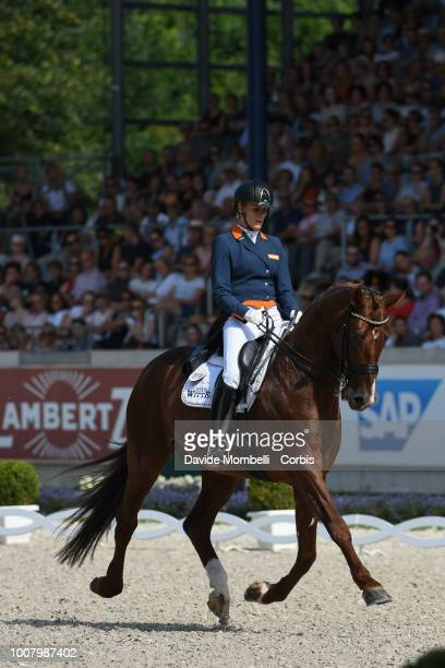 Madeleine WitteVrees of Netherlands riding Cennin during the dressage individual Final Grand Prix of Aachen Freestyle to music CDIO Deutsche Bank...