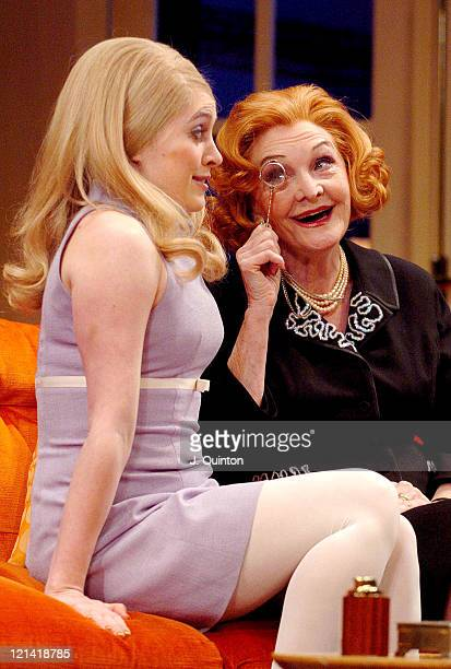 """Madeleine Worrall and Sheila Hancock during """"The Anniversary"""" - Photocall at The Garrick Theatre in London, Great Britain."""