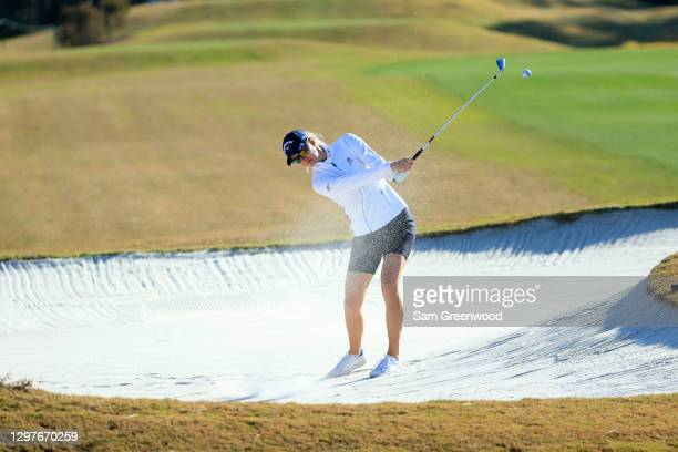 Madelene Sagstrom of Sweden plays a shot on the seventh hole during the first round of the Diamond Resorts Tournament Of Champions at Tranquilo Golf...