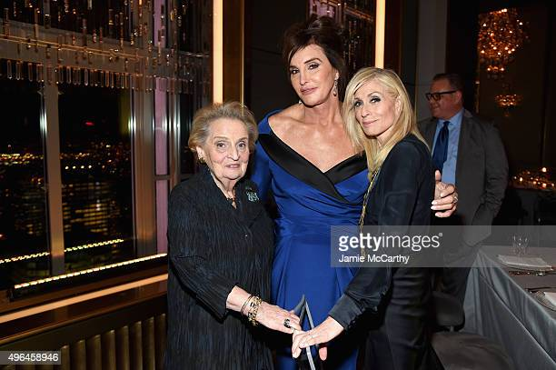Madeline Albright Caitlyn Jenner and Judith Light attend the 2015 Glamour Women of The Year Awards dinner hosted by Cindi Leive at The Rainbow Room...
