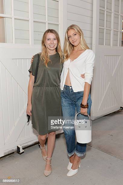 Madeline Amos and Chloe Perrin attend Andy Lu Lauri Firstenberg and James Deutsch host Distinct Daily's Inaugural Los Angeles Salon Series at...