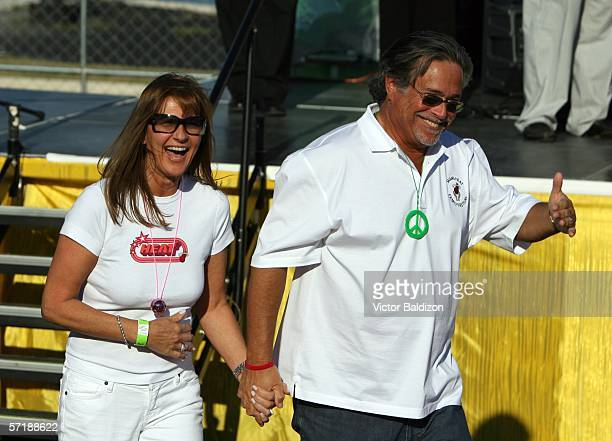 Madeline Arison and Micky Arison at the Miami Heat Family Festival on March 26 2006 at the American Airlines Arena in Miami Florida NOTE TO USER User...