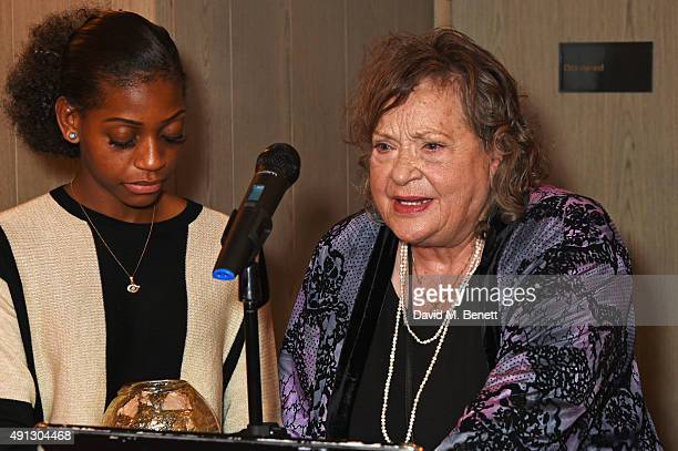 Madeline Bafaku and Sylvia Syms attend the Voice Of A Woman Awards at the Belgraves Hotel on October 4 2015 in London England