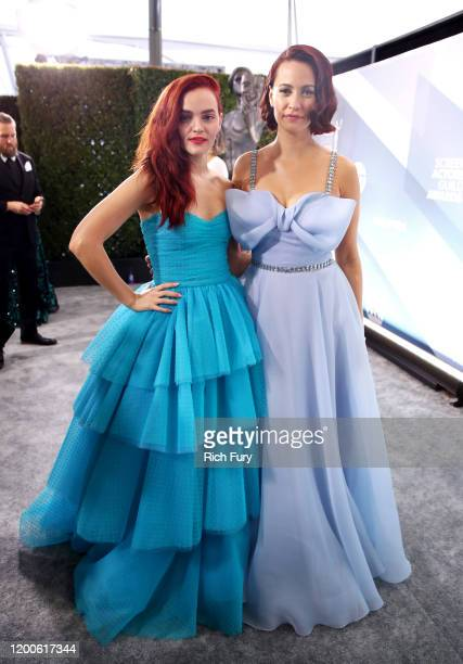 Madeline Brewer and Kristen Gutoskie attend the 26th Annual Screen ActorsGuild Awards at The Shrine Auditorium on January 19 2020 in Los Angeles...
