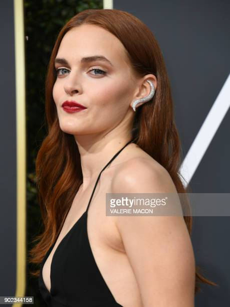 Madeline Brewer arrives for the 75th Golden Globe Awards on January 7 in Beverly Hills California / AFP PHOTO / VALERIE MACON