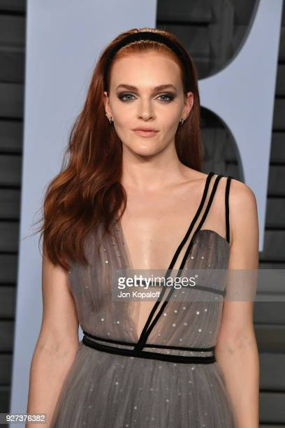 Madeline Brewer attends the 2018 Vanity Fair Oscar Party hosted by Radhika Jones at Wallis Annenberg Center for the Performing Arts on March 4 2018...
