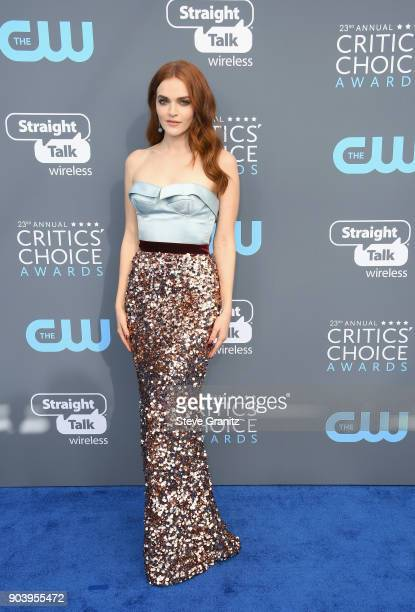 Madeline Brewer attends The 23rd Annual Critics' Choice Awards at Barker Hangar on January 11 2018 in Santa Monica California