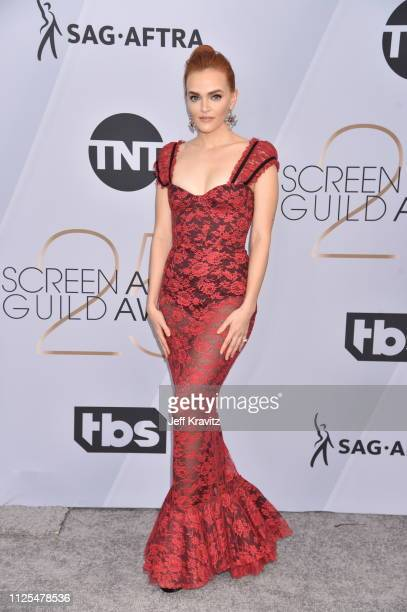 Madeline Brewer attends the 25th Annual Screen ActorsGuild Awards at The Shrine Auditorium on January 27 2019 in Los Angeles California