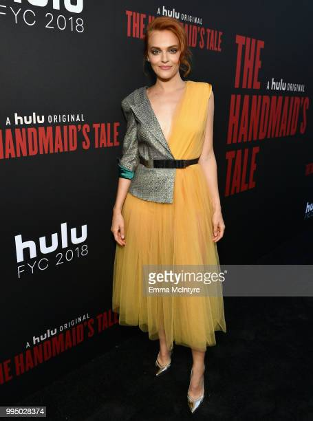 Madeline Brewer attends The Handmaid's Tale Hulu finale at The Wilshire Ebell Theatre on July 9 2018 in Los Angeles California