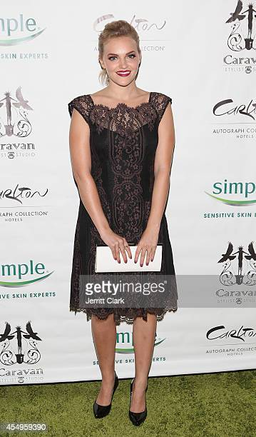 Madeline Brewer attends the Simple Skincare Caravan Stylist Studio Fashion Week Event on September 7 2014 in New York City