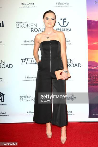 Madeline Carroll attends the screening of Entertainment Studios' 'God Bless The Broken Road' at Silver Screen Theater at the Pacific Design Center on...