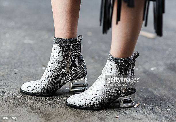 Madeline Dawson is seen in the East Village wearing Jeffrey Campbell shoes on August 31 2015 in New York City