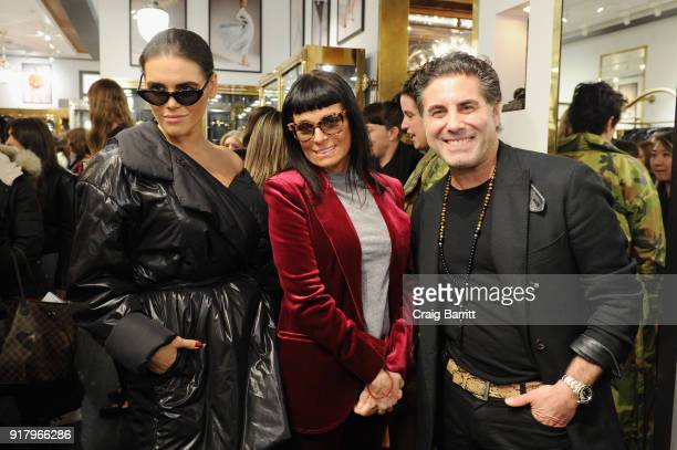 Madeline Dinda Norma Kamali and Gerard Maione attend Vintage For The Future A Norma Kamali Retrospective by What Goes Around Comes Around on February...
