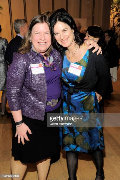 Madeline Fackler and Katherine Rowe attend Women for the World The Campaign for Smith College at The Morgan Library Museum on February 16 2017 in New...