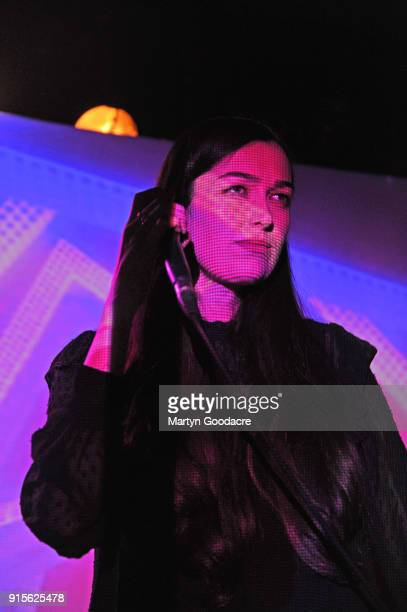 Madeline Follin of Cults performs at Musik Frieden Falckensteinstrasse on January 30 2018 in Berlin Germany