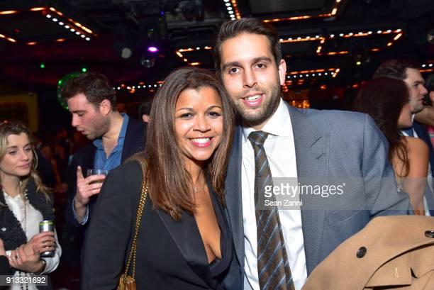 Madeline Haddon and Adam Brunk attend Yellowstone Forever Young Patrons Benefit hosted by Arielle Patrick Jackie Rooney and Alice Ryan at Lavo on...