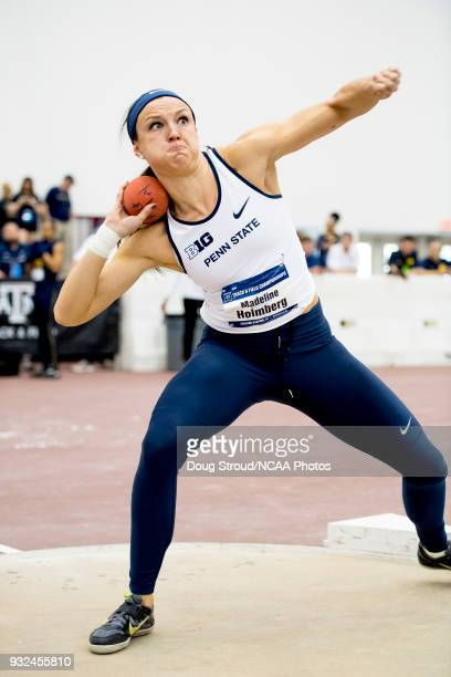 Madeline Holberg of Penn State University competes in the Shot Put portion of the Women's Pentathlon during the Division I Men's and Women's Indoor...
