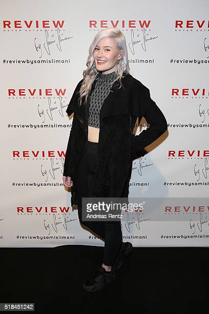 Madeline Juno attends the REVIEW by Sami Slimani Capsule Collection launch party on March 31 2016 in Duesseldorf Germany