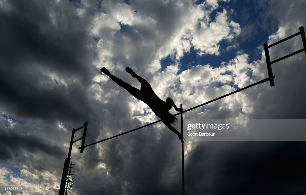 Madeline Lawson of Victoria competes in the Womens Pole Vault during the Zatopek Classic at Lakeside Stadium on December 8, 2012 in Melbourne, Australia.