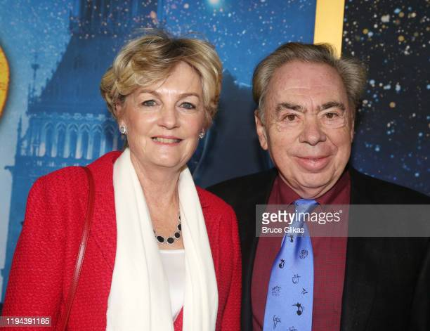 Madeline Lloyd Webber and Andrew Lloyd Webber pose at the world premiere of the new film Cats based on the Andrew Lloyd Webber musical at Alice Tully...