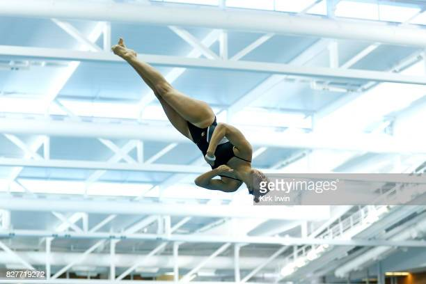 Madeline McKernan of Mizzou Diving competes during the Senior Women's 1m Semi Final during the 2017 USA Diving Summer National Championships on...
