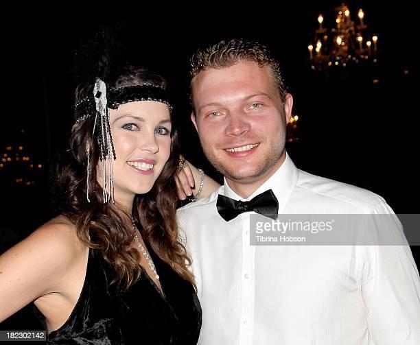 Madeline Merritt and Adrien Blech attend the 4th annual Face Forward LA Gala at Fairmont Miramar Hotel on September 28 2013 in Santa Monica California