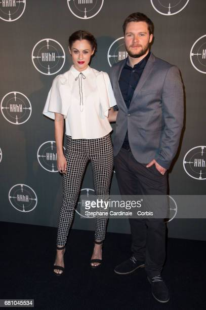 Madeline Mulqueen and Jack Reynor attend the 'HHhH' Paris Premiere at Cinema UGC Normandie on May 9 2017 in Paris France