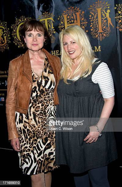 Madeline Smith and Jane Goldman attend a photocall to launch Gothic The Dark Heart Of Film at BFI Southbank on June 27 2013 in London England