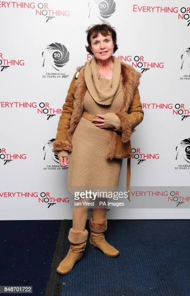 Madeline Smith arrives at the screening of Everything Or Nothing at the Odeon West End in London