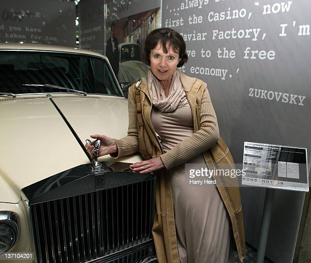 Madeline Smith attends the launch of 'Bond In Motion Launch Event The World's Largest Retrospective Of Bond Vehicles' the official exhibition of 50...