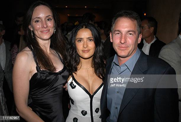 Madeline Stowe, Salma Hayek & Brian Benben during Miramax Max Awards at St Regis Hotel in Los Angeles, CA, United States.