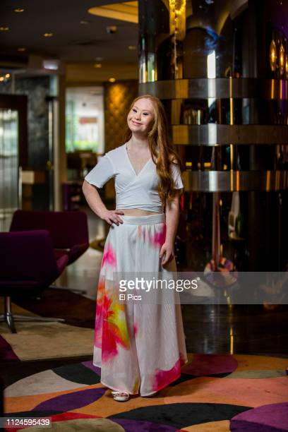 August 28: Madeline Stuart poses for a portrait session in Sydney on August 28th 2018. Madeline is an Australian model with Down syndrome. She has...