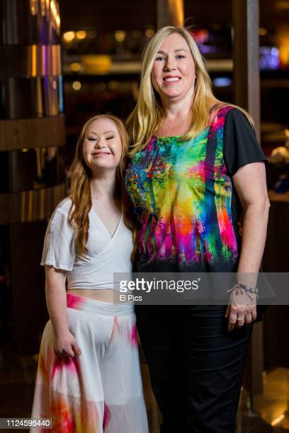 Madeline Stuart poses with mother Rosanne Stuart after a portrait session in Sydney on August 28th 2018 Madeline is an Australian model with Down...