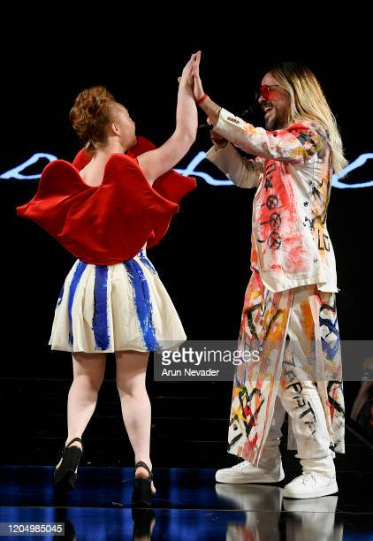 Madeline Stuart walks the runway during Domingo Zapata At New York Fashion Week Powered By Art Hearts Fashion NYFW 2020 at The Angel Orensanz...