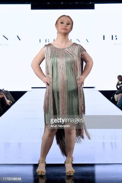Madeline Stuart walks the runway during IBRAINA At New York Fashion Week Powered by Art Hearts Fashion NYFW September 2019 at The Angel Orensanz...
