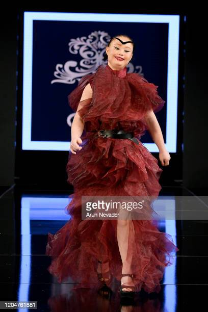 Madeline Stuart walks the runway during Willet Designs At New York Fashion Week Powered By Art Hearts Fashion NYFW 2020 at The Angel Orensanz...