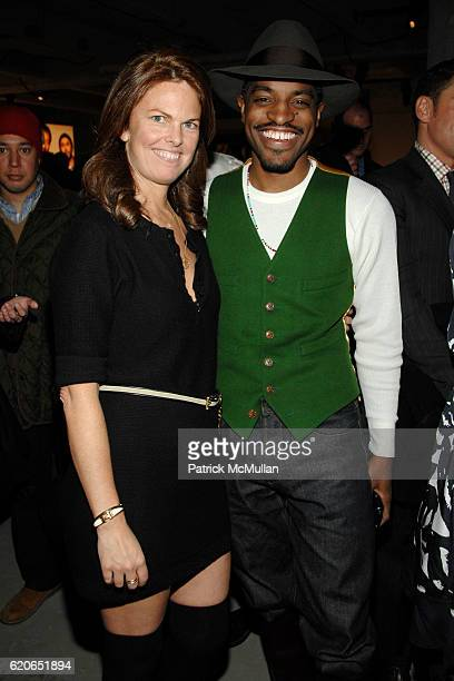 Madeline Weeks and Andre 3000 attend GQ/CFDA Best New Menswear Designers Party at 620 Fifth Avenue on January 30 2008 in New York City