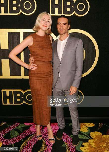 Madeline Wise and George Basil arrive at HBO's Official 2018 Emmy After Party on September 17 2018 in Los Angeles California