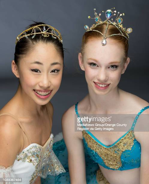 Madeline Woo left and Clara Mason have been named as the Grand Prix winner in their categories at the Youth America Grand Prix regionals in Los...