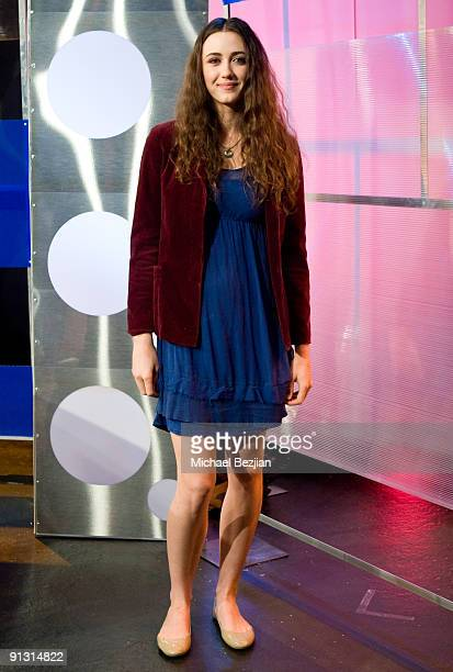 Madeline Zima attends the 'Hollyscoop Entertainment News Show' Taping on October 1 2009 in Los Angeles California