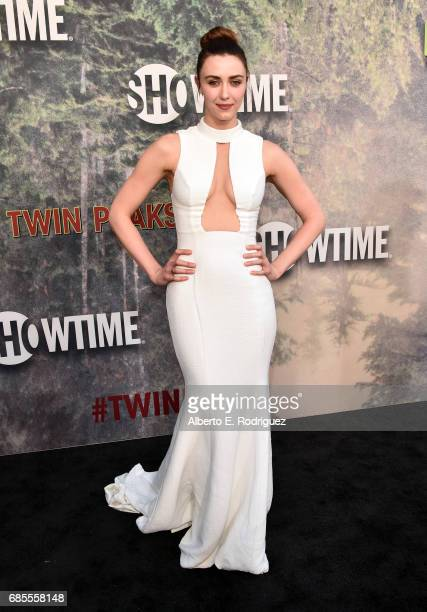 Madeline Zima attends the premiere of Showtime's 'Twin Peaks' at The Theatre at Ace Hotel on May 19 2017 in Los Angeles California