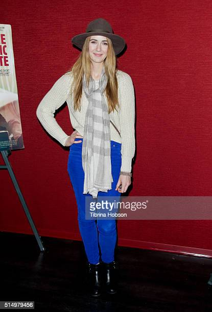 Madeline Zima attends the premiere of 'The Automatic Hate' at Laemmle Monica Film Center on March 11 2016 in Santa Monica California