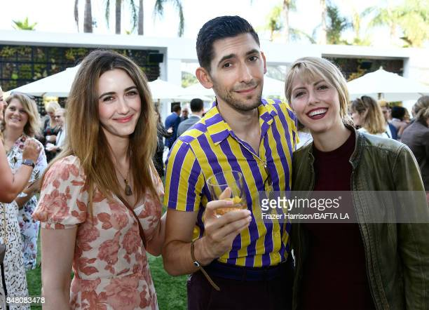 Madeline Zima, Max Landis, and Yvonne Zima attend the BBC America BAFTA Los Angeles TV Tea Party 2017 at The Beverly Hilton Hotel on September 16,...